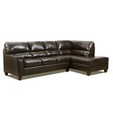 Thy Leather 116'' Sectional by Red Barrel Studio®