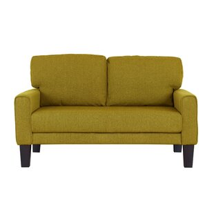 blagdon modern upholstery loveseat - Yellow Couch