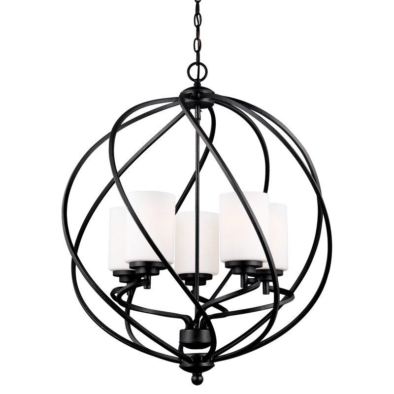 Brayden Studio Redington 5 Light Globe Chandelier