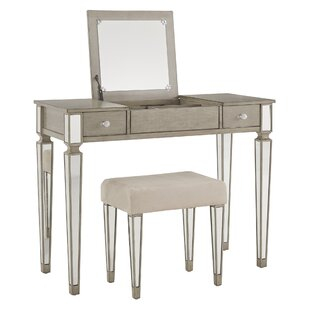 Shop Bench Vanity Set with Mirror By House of Hampton