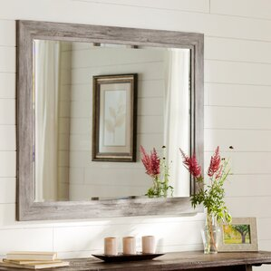 Coastal Weathered Gray Wall Mirror