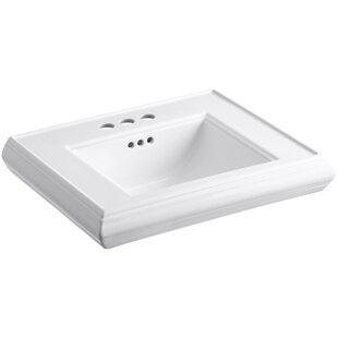 Buy clear Memoirs® Ceramic 24 Pedestal Bathroom Sink with Overflow By Kohler