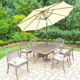Thelma 7 Piece Dining Set with Cushions