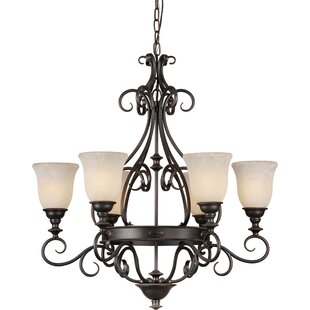 Bovingdon 6-Light Shaded Chandelier by Fleur De Lis Living