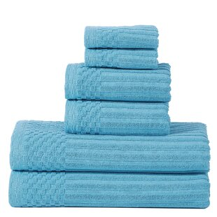 Bergquist 6 Piece 100% Cotton Towel Set