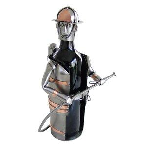 Fireman 1 Bottle Tabletop Wine Rack by H & K SCULPTURES