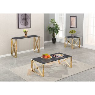 Javon 3 Piece Coffee Table Set by Orren Ellis
