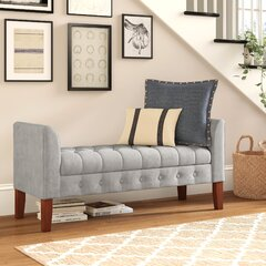 Bedroom Red Wood Benches You Ll Love In 2021 Wayfair