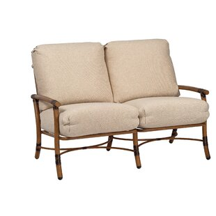 Glade Isle Loveseat with Cushions by Woodard