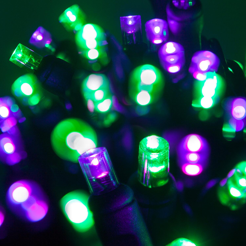 70 Light String Purple LED C6 Strawberry Christmas Lights
