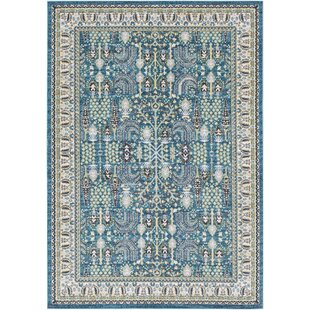 Affordable Riverbend Teal/Cream Area Rug By Bloomsbury Market