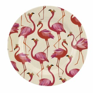 Flamingo 4 Piece Melamine Salad Plates Set