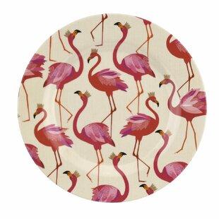 Flamingo 4 Piece Melamine Salad Plates Set