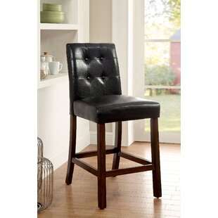 Webber Counter Height Upholstered Dining Chair (Set of 2) Fleur De Lis Living