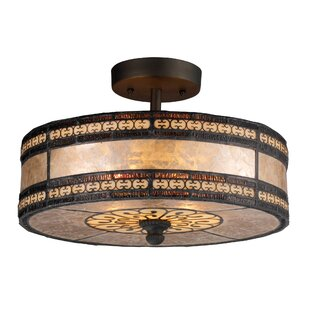 Fleur De Lis Living Bearer 2-Light Semi-Flush Mount