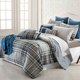 Allenspark Plaid 16 Piece Reversible Comforter Set