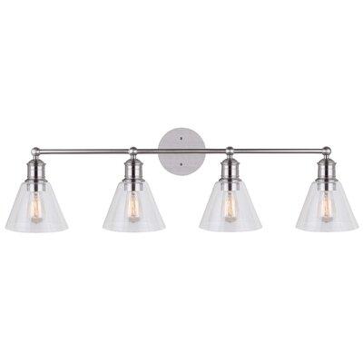 Trent Austin Design Whitaker 4-Light Vanity Light Finish: Brushed Nickel