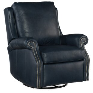 Barcelo Leather Manual Wall Hugger Recliner By Bradington-Young