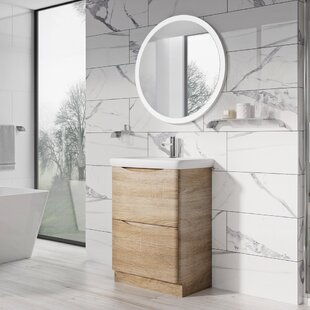 Harleigh 600mm Wall Mounted Vanity Unit By Ebern Designs