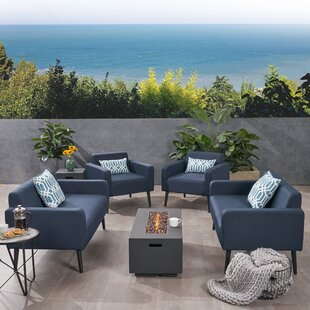 Breckenridge Outdoor 6 Piece Sofa Seating Group with Cushions