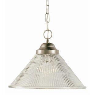 Lewisboro 1-Light Cone Pendant by Charlton Home