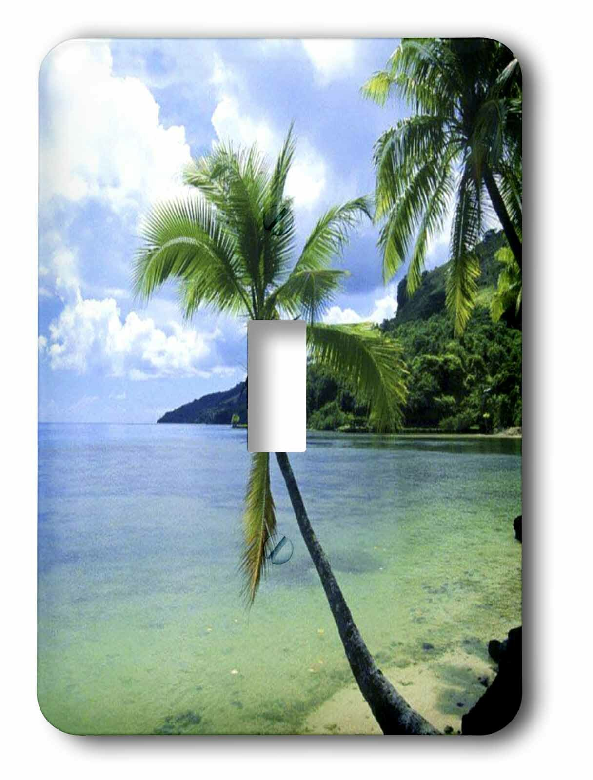 3drose Tropical Paradise 1 Gang Toggle Light Switch Wall Plate
