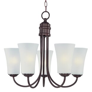 Charlton Home Garfield 5-Light Shaded Chandelier