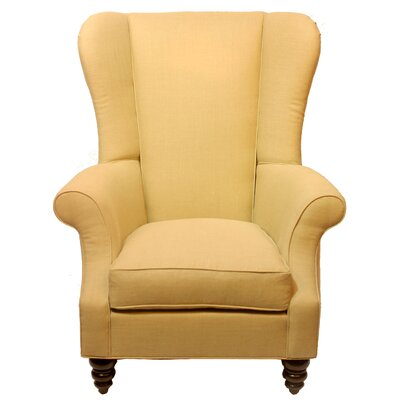 Bartlett Wingback Chair Body Fabric: Notion Cremepuff
