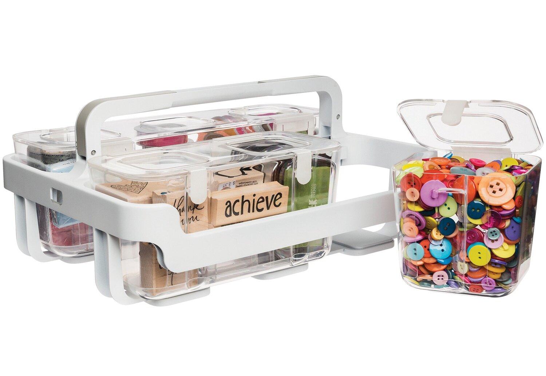 Rebrilliant Stackable Caddy Plastic Craft Case | Wayfair