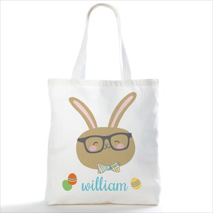 Sweet Bunny Personalized Picnic Tote Bag by Harriet Bee Reviews