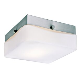 Brooke 1-Light Glass Shade Flush Mount