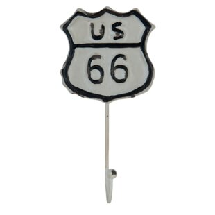 Keanu Us Route 66 Wall Hook (Set Of 12) By Symple Stuff