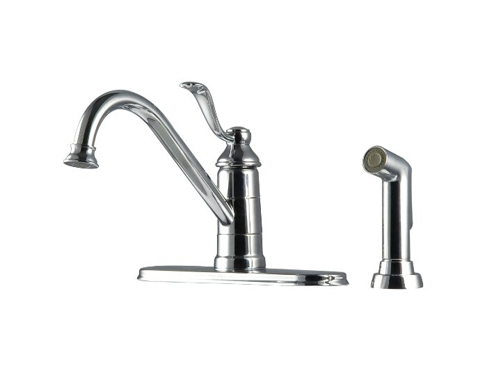 Portland Single Handle Deck Mounted Kitchen Faucet With Side Spray