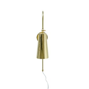 Cadet Brass 1-Light Plug-In Wallchiere by Wrought Studio