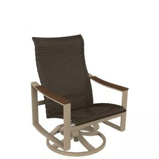 Brazo Woven Swivel Action Patio Chair by Tropitone 2019 Online