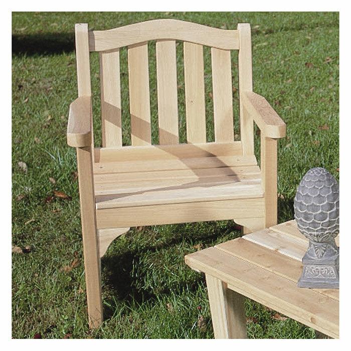 Rustic Cedar Adirondack Cedar Camel Wood Adirondack Chair | Wayfair