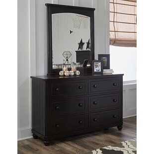 Aerial 6 Drawer Double Dresser with Mirror