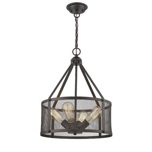 Laurel Foundry Modern Farmhouse Bouvet Industrial 4-Light Pendant