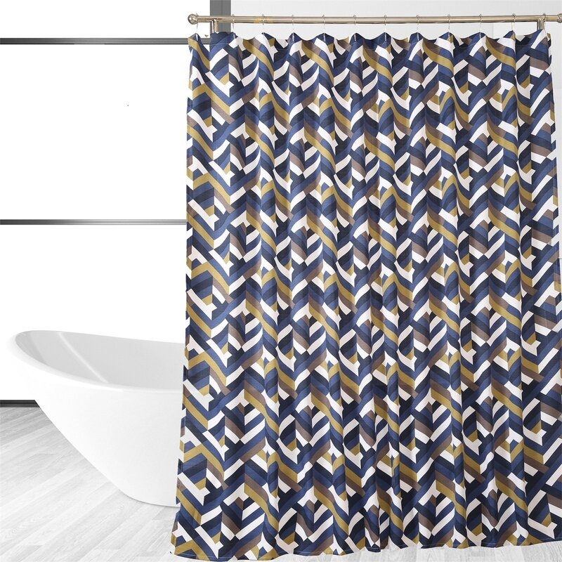 Affluence Home Fashions Chevron Single Shower Curtain