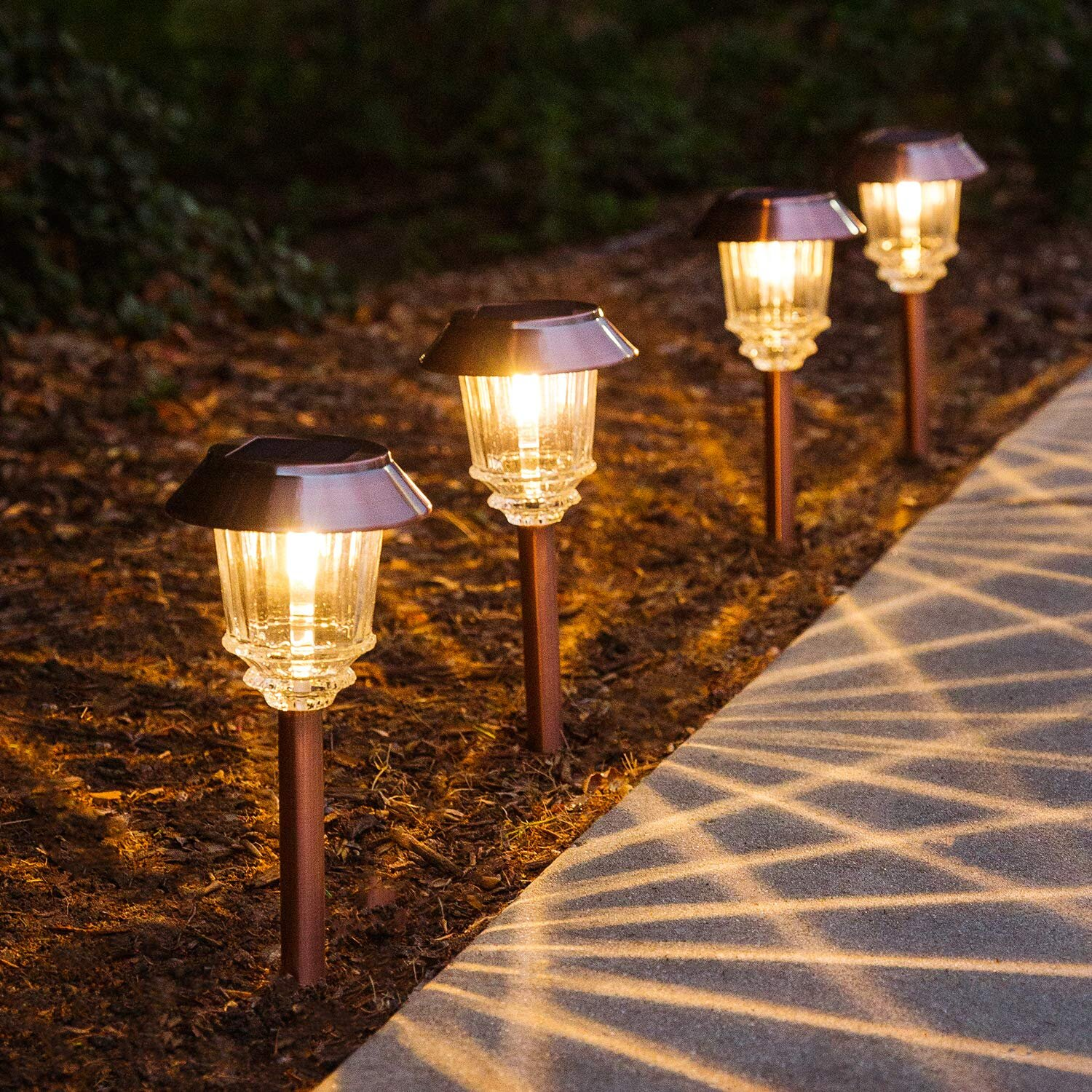 Linscraft Electroplated Bronze Solar Powered Integrated Led Pathway Light Pack Wayfair