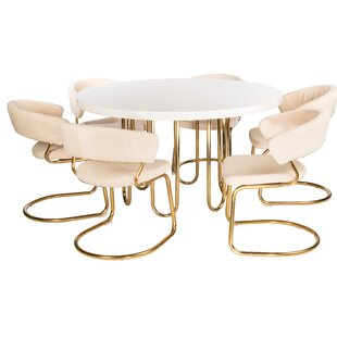 Dannie 7 Piece Dining Set Everly Quinn