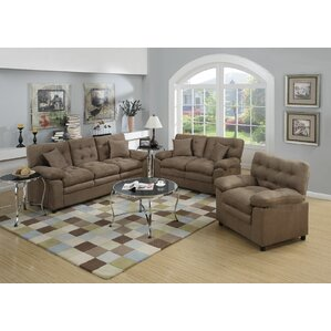 Microfiber Living Room Sets You\'ll Love | Wayfair