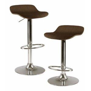 Kallie Adjustable Height Swivel Bar Stool (Set of 2) by Luxury Home