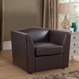 Alcott Hill Matherne PU Leather Armchair