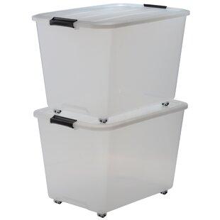 Roller Plastic Storage Box (Set Of 2) By IRIS