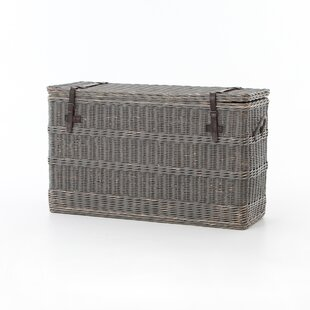 Gracie Oaks Dupont Wicker Trunk