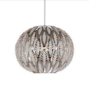 Easy fit chandelier wayfair beaded leaf design easy fit 27cm metal sphere pendant shade aloadofball Gallery