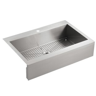 Vault Top Mount Single Bowl Stainless Steel Kitchen Sink With Shortened A Front For 36 Cabinet
