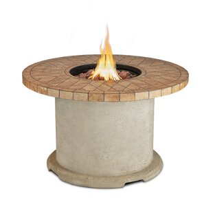 Real Flame Ogden Concrete Propane Fire Pit Table