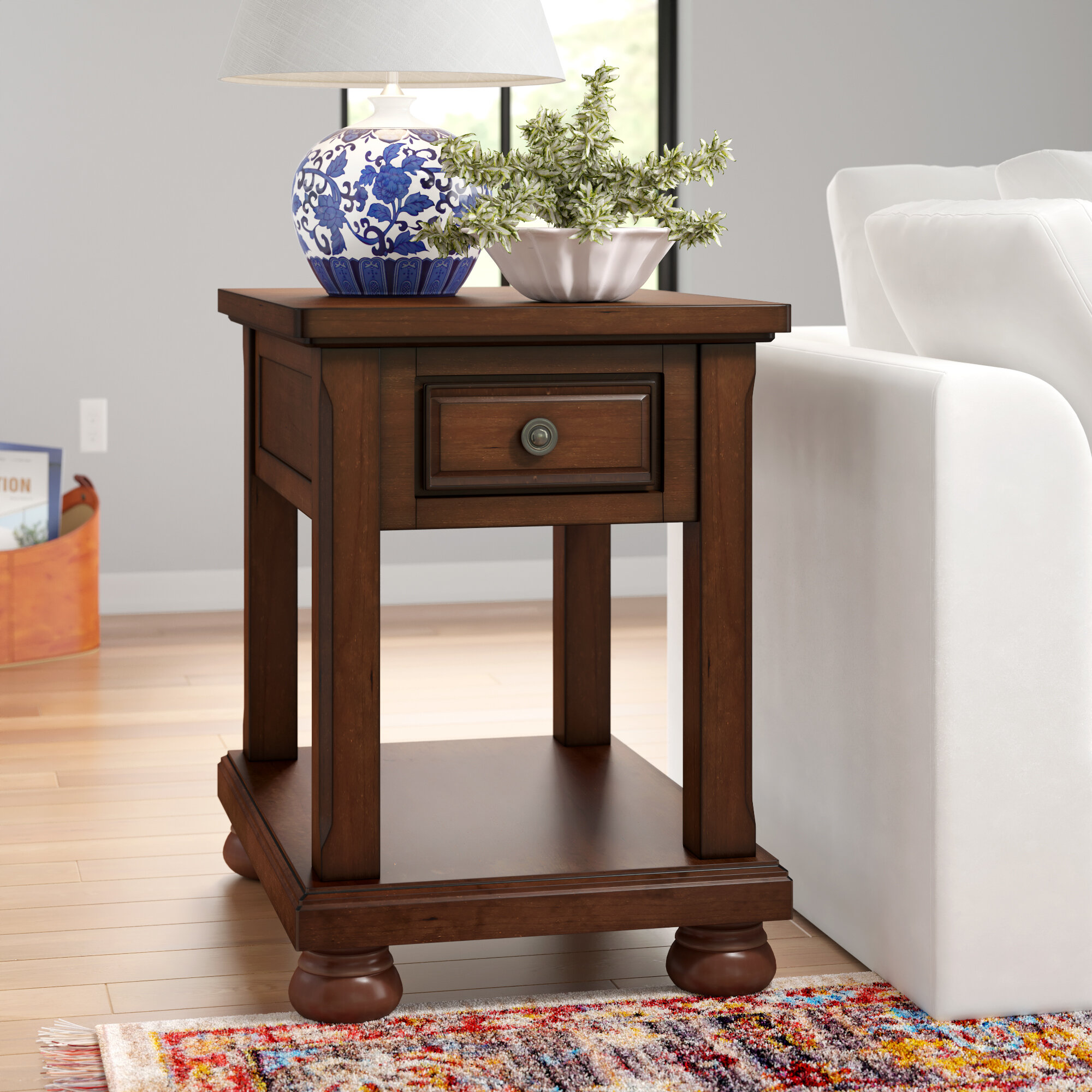 Three Posts Mcalester End Table With Storage Reviews Wayfair